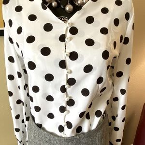 *BOGO ITEM*. Polka Dot Button-up Blouse